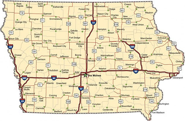 Weird Towns Youll Find In Iowa - Map of iowa towns