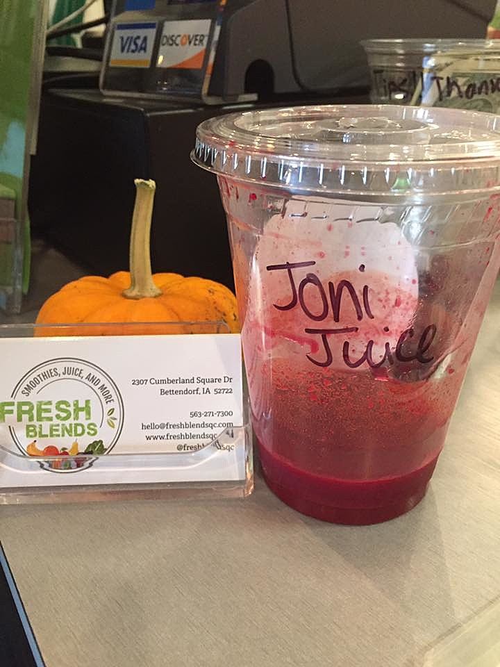 The surprise I got today when a juice was named after me at Fresh Blends